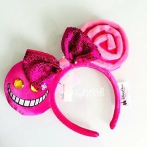 Disney Cheshire Cat Ears We're All Mad Here NEW